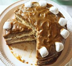 Banoffee marshmallow cake. I have to make this! OMG