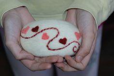 Gefilzte Fine Merino Wolle Sweethearts Geschenk Lavendel Seife