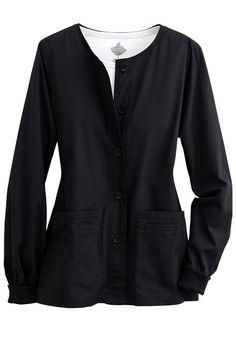 619eddd932a Peaches Button Front warm up scrub jacket. - Scrubs and Beyond Scrub Jackets,  Peaches