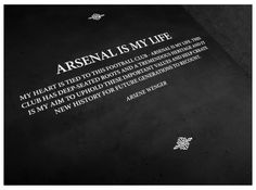 ARSENAL IS MY LIFE #Arsene Wenger