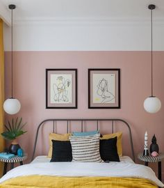 Colorful rental apartment in Moscow sqm) This standard one-bedroom apartment in the Stalinist building in Moscow was originally bought for short-term rental through Airbnb, therefore the tasks ✌Pufikhomes - source of home inspiration One Bedroom Apartment, Home Bedroom, Modern Bedroom, Bedroom Interiors, Contemporary Bedroom, Bedroom Furniture, Decorate Apartment, White Apartment, Two Bedroom Apartments