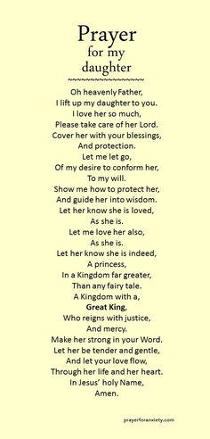 Prayer for daughter