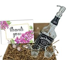 """Search: 10 results found for """"gift box"""" – Page 2 – Looking Sharp Cactus LLC Mouthwash Dispenser, Glass Dispenser, Soap Dispensers, Jack Daniels Decor, Jack Daniels Gifts, Jack Daniels Soap Dispenser, Liquor Bottle Crafts, Cactus, Whiskey Gifts"""