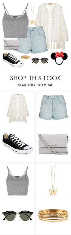 """Summer's Heartbeat (Day Five)"" by kierstin518 on Polyvore featuring ADRIANA DEGREAS, Topshop, Converse, MICHAEL Michael Kors, Sydney Evan, Ray-Ban and Kate Spade"