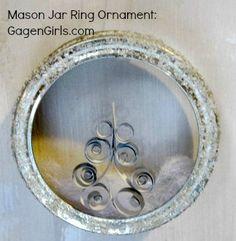 Mason Jar Ring Ornament in under 15 Minutes