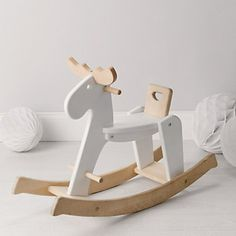 Buy Christmas > Childrens Christmas > Wooden Rocking Reindeer from The White Company