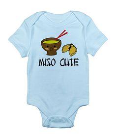 Sky Blue 'Miso Cute' Bodysuit - Infant   zulily