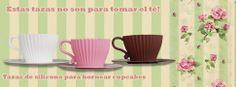 Tazas para hornear cupcakes. Rosas, marrones o blancas. Super originales!!!  disponibles en lagalletadejengibre.com