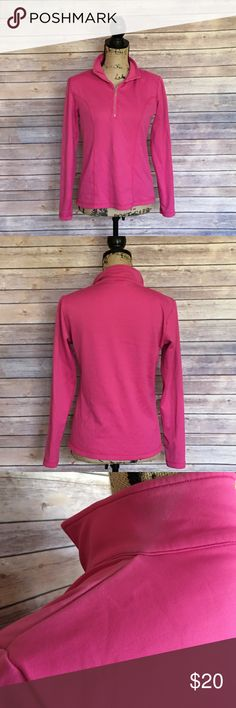 Nils Skiwear Robin Pullover Size Medium Nils Skiwear Pink Robin Pullover Half zip style Some fading on shoulder and near collar as pictured No other stains of signs of wear NILS Sweaters