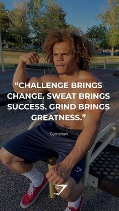 """Challenge brings change. Sweat brings success. Grind brings greatness."" - Gymshark. Save this to your motivation board for a reminder! #Gymshark #Quotes #Motivational #Inspiration #Motivate #Phrases #Inspire #Fitness #FitnessQuotes #MotivationalQuotes #Positivity #Routine #HealthyMindset #Productive #Aspiration #Wellness #LifeGoals"