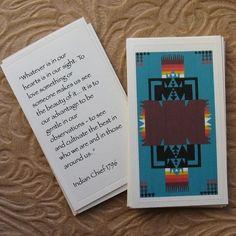Native American Wisdom Cards