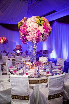 centros de mesa altos para una boda