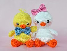 Baby Knitting Patterns Animals Crochet little easter chicks. Instructions Free Dutch PDF Do … Baby Knitting Patterns, Easter Crochet Patterns, Crochet Birds, Crochet Patterns Amigurumi, Amigurumi Doll, Crochet Dolls, Free Crochet, Knit Crochet, Knitting Toys