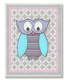 Take a look at this Pink & Gray Owl Wall Art by Stupell Industries on #zulily today!