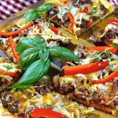Sausage Diavolo Pizza is an extraordinary pizza with many layers of flavor.    #JvilleKitchens    #AllstarsJville    @Allrecipes.com.com.com