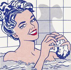 Roy Lichtenstein. Mujer en el baño, 1963.