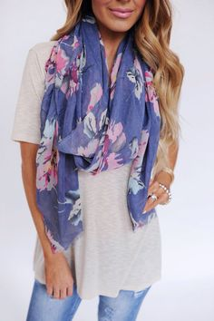 Floral scarf <3