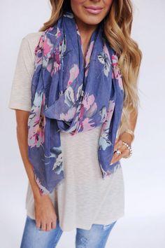 Floral scarf <3