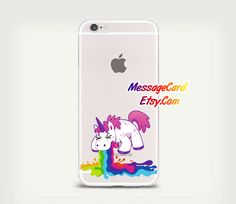 Unicorn Clear Phone Case Cover for iPhone 6 6s plus by MessageCard