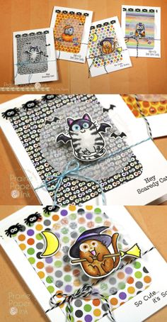 The Greeting Farm Scaredy Cats | Zig Clean Color Real Brush Markers | AmyR Halloween Series #16