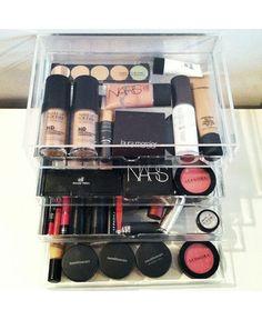 Keji 4 drawer desktop file $14.92! MUCH better price than the makeup organizers the Kardashians use at $150...sheesh