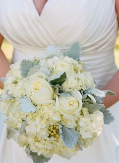 vintage ivory and grey/silver bouquet