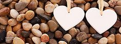 hearts on pebbles for facebook timeline cover