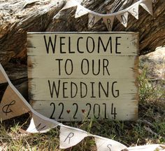 Country Vintage Wedding Sign by TheWelcomeSwallow on Etsy