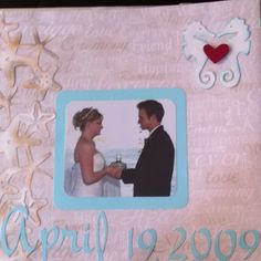Page of my wedding scrapbook.