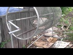 Rotating compost sifter - YouTube
