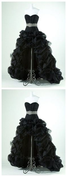 High-Low Sweetheart Charming Real Made Prom Dresses,Long Evening Dresses,Prom…