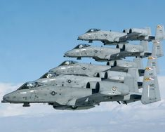 Five Maryland ANG A-10C Thunderbolt IIs fly in formation. (Air National Guard photo by SMSgt. Ed Bard/Released)