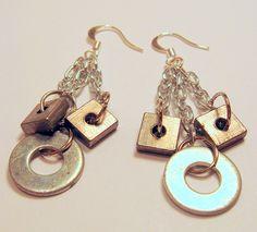 Dangle Washer Earrings  by Kimberlie Kohler, via Flickr