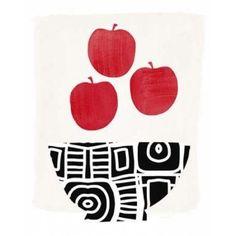 Bowl of Apples Canvas Art - Linda Woods (24X30)