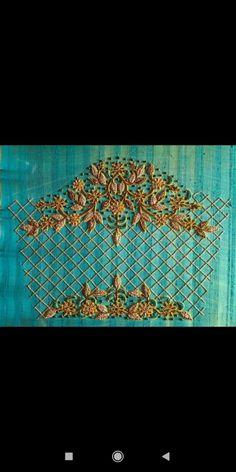 Cutwork Blouse Designs, Best Blouse Designs, Pattu Saree Blouse Designs, Bridal Blouse Designs, Magam Work Designs, Magam Work Blouses, Zardosi Work Blouse, Lehenga Saree Design, Hand Work Blouse Design
