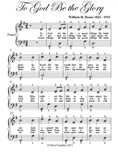 To+God+Be+The+Glory+Easy+Note+Piano+Sheet+Music+PDF