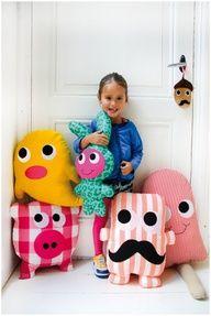 Cojines divertidos infantiles niños cerdo helado DIY Funny cushions for kids Appeltjes en Peren likes:  Discodip knuffels