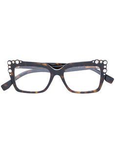 b4715b013 FENDI EYEWEAR studded tortoiseshell square frame glasses.  fendieyewear
