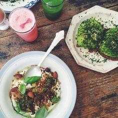 to eat.  Breakfast perfection @atelierseptember! #atelierseptember #copenhagen #lppcityguidetocph #cityguide #townske #lefooding #avocado #avocadotoast #zucchinijam #granola #matcha #grapefruit #breakfastbowl #toast #nomnom #plantbased #plantpower