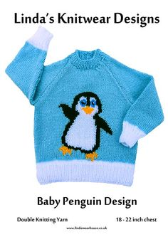 Ravelry: Baby penguin sweater pattern by Linda Moorhouse