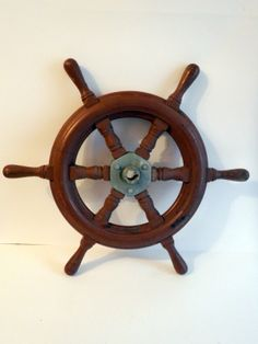 """Nautical 20"""" Vintage Wooden SHIP Steering Wheel Pirate Captain Boat Sailboat 
