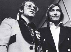 Elton John with Charlie Watts (Stones)