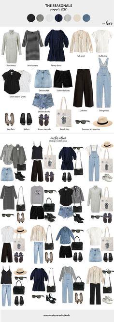 Summer capsule wardrobe: the seasonals. Summer capsule wardrobe: the seasonals. Fashion 2018, Look Fashion, New Fashion, Trendy Fashion, Fashion Outfits, Travel Fashion, Petite Fashion, Fashion Styles, Curvy Fashion