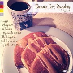 """These quick and easy pancakes are not only """"Fix Approved"""" but are also delicious and pretty filling. I have made them with some added unsweetened shredded coconut, or a bit of ground flax seed, so ..."""