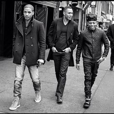Cool Cast photo of the Lyons Brothers from left to right: Jussie Smollett, Trai Byers & Bryshere Gray! Click PIN to read Bio and other great Empire articles and updates shared by our Community members Serie Empire, Empire Cast, Empire Fox, Empire State, Empire Jamal, Lucious Lyon, Trai Byers, Divas, Hip Hop