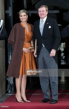 Queen Maxima and King Willem-Alexander of The Netherlands arrive to attend the New Year's reception for the diplomatic corps at the Royal Palace on January 13, 2015 in Amsterdam Netherlands. (Photo by Michel Porro/Getty Images)