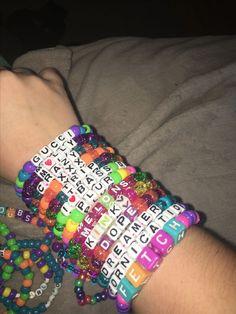Best Kandi Bracelet Sayings Rave Bracelets, Pony Bead Bracelets, Summer Bracelets, Pony Beads, Friendship Bracelets, Festival Bracelets, Stack Bracelets, Friend Bracelets, Bangles