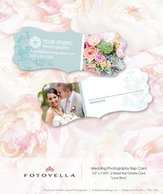 Wedding Photography Marketing - Referral Card Template - Ornate Rep Card - 1067 - Photoshop Templates for Photographers