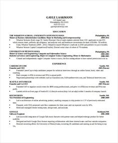 resume examples computer science