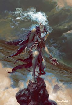 Sathariel, Angel of Deception, Peter Mohrbacher #art #illustration #innatural